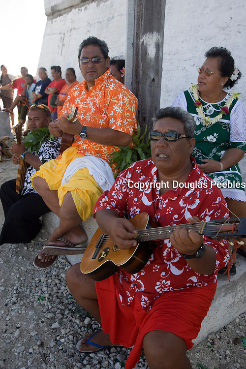 Welcome ceremoney, Takaroa, Tuamotu Islands, French Polynesia, (Editorial use only)<br />