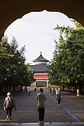 View of the Temple of Heaven from the north gate during summer in Beijing, China