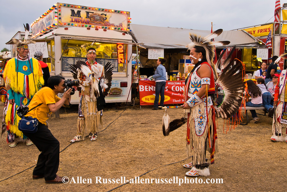 Photographer, Crow Fair Powwow, Crow Indian Reservation, Montana