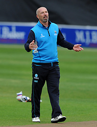 Somerset's Director of Cricket Matt Maynard - Photo mandatory by-line: Harry Trump/JMP - Mobile: 07966 386802 - 30/03/15 - SPORT - CRICKET - Pre Season Fixture - T20 - Somerset v Gloucestershire - The County Ground, Somerset, England.