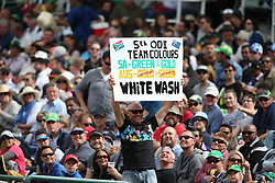 A fans enjoy the action during the 5th ODI match between South Africa and Australia held at Newlands Stadium in Cape Town, South Africa on the 12th October  2016<br /> <br /> Photo by: Shaun Roy/ RealTime Images