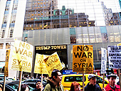 NYC Trump Towers Syrian Bombing Protest