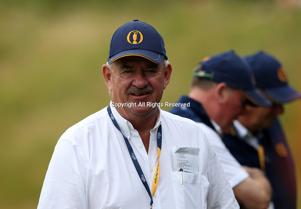 July 19th 2017, Royal Birkdale Golf Club, Southport, England; The 146th Open Golf Championship, Final Practice Day; European Tour Chief Referee John Paramor following play on the tenth hole