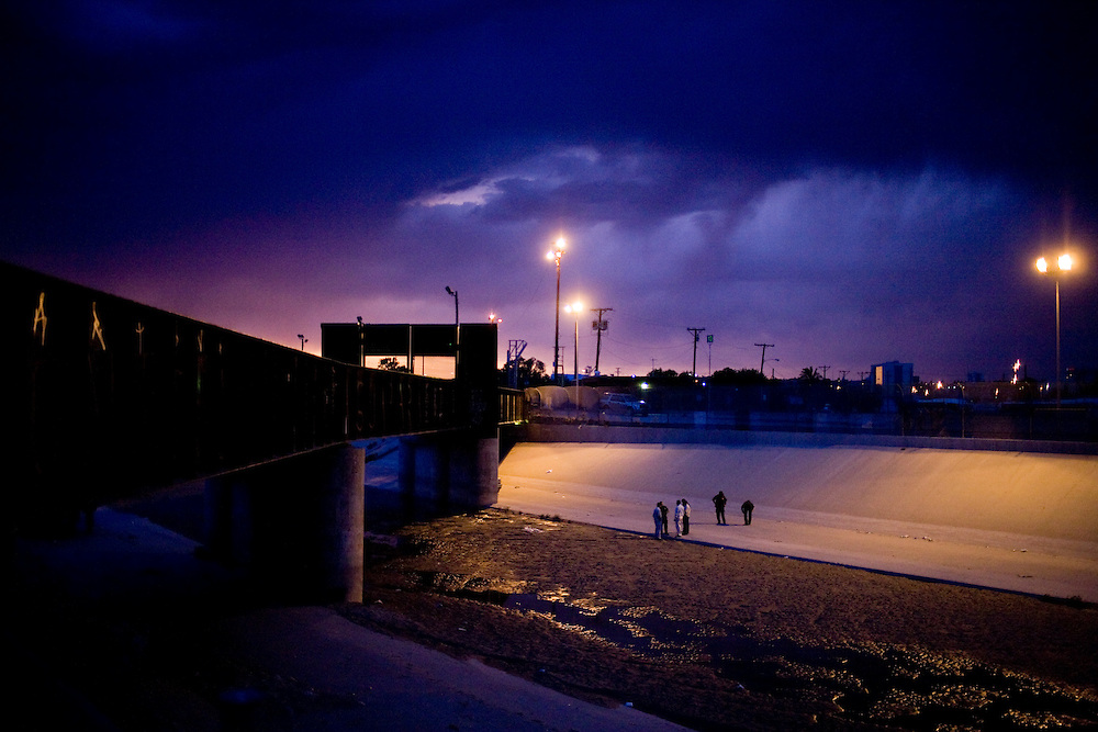 U.S. Border Patrol at the scene of the murder of a 15 year-old boy, who was killed by a U.S. Border Patrol agent in Ciudad Juarez, Chihuahua on June 7, 2010 after he had tried to cross into the United States.