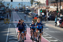 Aafke Soet (NED) of WNT Rotor Pro Cycling rides to the sign-on before Stage 4 of the Setmana Cicilsta Valenciana - a 118 km road race, starting and finishing in Benidorm on February 25, 2018, in Valencia, Spain. (Photo by Balint Hamvas/Velofocus.com)