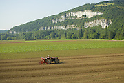 Farm field in the Lot area of the french region known as Midi-Pyrénées.