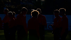 BANGOR, WALES - Saturday, November 17, 2018: Wales players inspect the pitch before the UEFA Under-19 Championship 2019 Qualifying Group 4 match between Sweden and Wales at the Nantporth Stadium. (Pic by Paul Greenwood/Propaganda)