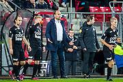 ALKMAAR - 26-10-2016, AZ - FC Emmen, AFAS Stadion, 1-0, FC Emmen trainer/coach Dick Lukkien