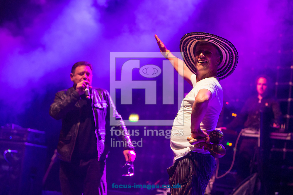 Mark &quot;Bez&quot; Berry (R) and Shaun Ryder (L) of the Happy Mondays perform at O2 Brixton Acadamy, Brixton<br /> Picture by Ryan Dinham/Focus Images Ltd +44 7900 436859<br /> 03/12/2015