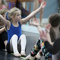 "Maddie Reinert, 6, of Tupelo, practices a dance routine for ""Hope for the Holidays"", as she listens to instructor Catherine Barkley at the North Mississippi Dance Centre. The annual dance is a fundraiser for St. Jude."