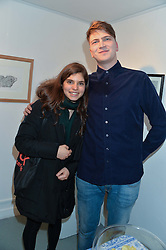 PRINCESS BRIGID VON PREUSSEN and cousin PRINCE FRITZI VON PREUSSEN at an exhibition of works by Beatrice von Preussen held at The Gallery on The Corner, 155 Battersea Park Road, London SW8 on 11th December 2013.