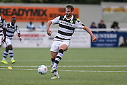 Forest Green Rovers Aarran Racine(21) on the ball during the The FA Cup 4th qualifying round match between Sutton United and Forest Green Rovers at Gander Green Lane, Sutton, United Kingdom on 15 October 2016. Photo by Shane Healey.