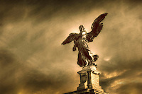Angel on a bridge across the Tiber at Ponte Vittorio Emanuele II in Rome.