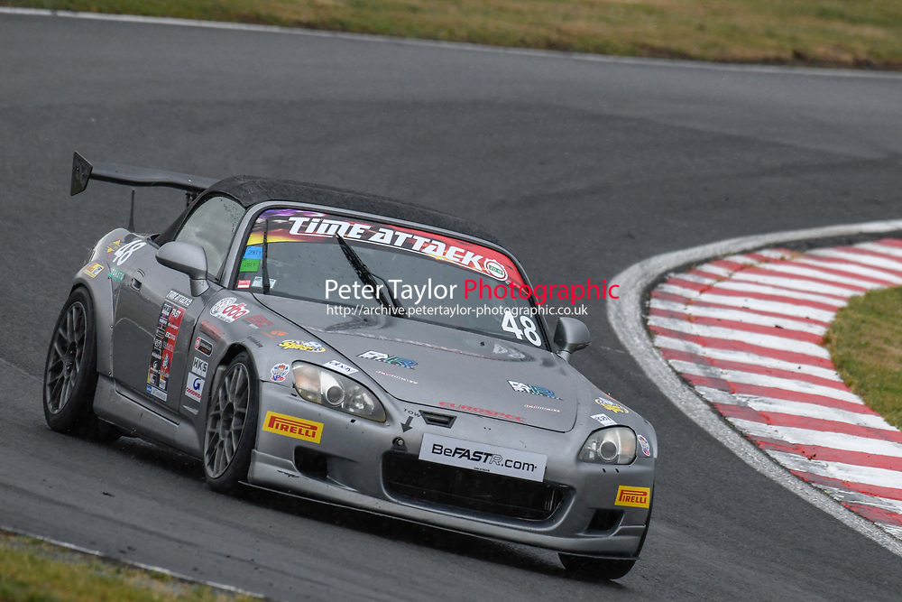 #48 Mike KALLOW (SRE) Honda S2000  during 2018 MSA Time Attack Championship - FastR Clubman / Pocket Rocket / Classic & Retro  as part of the Time Attack - Round 4 - Oulton Park  at Oulton Park, Little Budworth, Cheshire, United Kingdom. July 28 2018. World Copyright Peter Taylor/PSP. Copy of publication required for printed pictures.