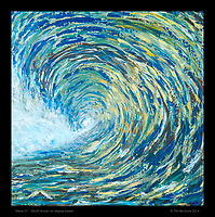 """Wave 01"", 30x30 Acrylic on display board"