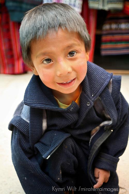 Americas, South America, Peru, Pisac. Young Peruvian boy.