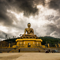 Bhudda statue in Thimpu, Bhutan <br />