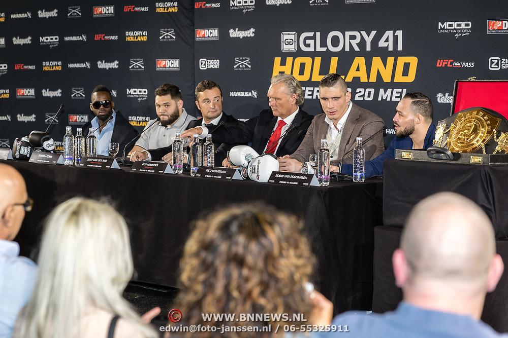 NLD/Den Bosch/20170510 - Persconferentie Glory 41, deelnemers