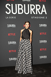 Barbara Chicharelli at the Red Carpet of the series Suburra 2 at Circolo Degli Illuminati in Rome, Italy, 20 February 2019 .Dress: Odiouse, Jewels: Giulia Dominici  (Credit Image: © Lucia Casone/Soevermedia via ZUMA Press)