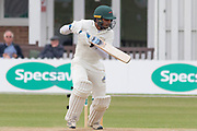 Hassan Azad batting during the Specsavers County Champ Div 2 match between Leicestershire County Cricket Club and Durham County Cricket Club at the Fischer County Ground, Grace Road, Leicester, United Kingdom on 9 July 2019.