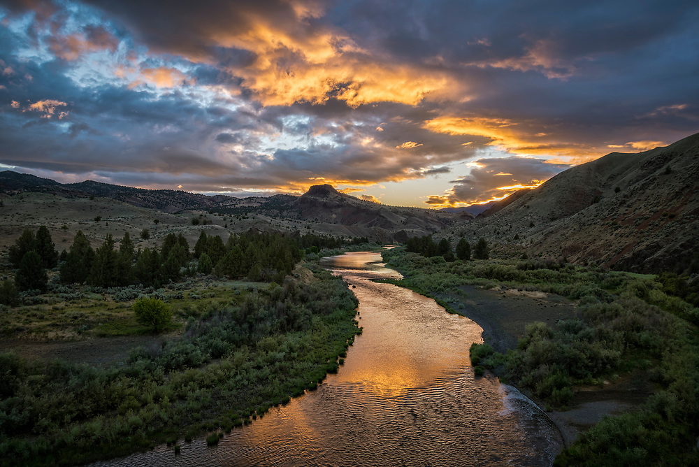 The Wild and Scenic John Day River at Priest Hole access in eastern Oregon.