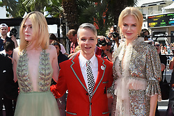 Nicole Kidman, Elle Fanning and Director John Cameron Mitchell arriving on the red carpet of 'How to Talk to Girls at Parties' screening held at the Palais Des Festivals in Cannes, France on May 21, 2017 as part of the 70th Cannes Film Festival. Photo by Nicolas Genin/ABACAPRESS.COM