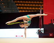 Martina Brambilla from the San Giorgio Desio team during the Italian Rhythmic Gymnastics Championship in Bologna, 9 February 2019.