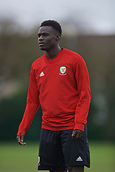 NEWPORT, WALES - Thursday, March 21, 2019: Wales' Momodou Touray during an Under-21 training session at Dragon Park. (Pic by David Rawcliffe/Propaganda)