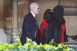 © Licensed to London News Pictures. 03/04/2019. London, UK. Labour Party Leader Jeremy Corbyn walks to the House of Commons for Prime Minister's Questions. Prime Minister Theresa May has called for talks with Labour Party Leader Jeremy Corbyn to seek a way forward with the Brexit deadlock. Photo credit: Peter Macdiarmid/LNP