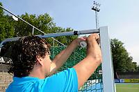 hockey, seizoen 2010-2011, 10-06-2011, amstelveen, Finale Nationale Shell Schoolhockeycompetitie 2011, Meisjes Oud College Hageveld Heemstede - vd Capellen SG Zwolle 4-2, gat in het net
