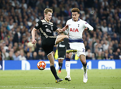 April 30, 2019 - London, England, United Kingdom - L-R L-R Matthijs de Ligt of Ajax  and Tottenham Hotspur's Dele Alli.during UEFA Championship League Semi- Final 1st Leg between Tottenham Hotspur  and Ajax at Tottenham Hotspur Stadium , London, UK on 30 Apr 2019. (Credit Image: © Action Foto Sport/NurPhoto via ZUMA Press)