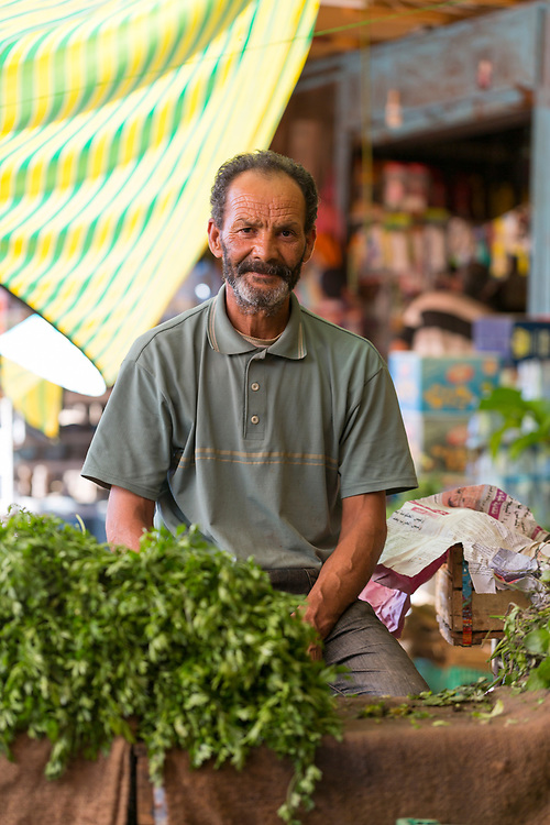 Vegetable market, Moulay Idriss Zerhoun Medina, Middle Atlas, Morocco, 2016-06-22.