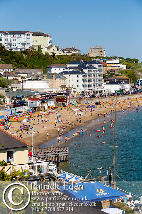 Seafront, Beach, bathers, Ventnor, Isle of Wight, England, UK photography photograph canvas canvases