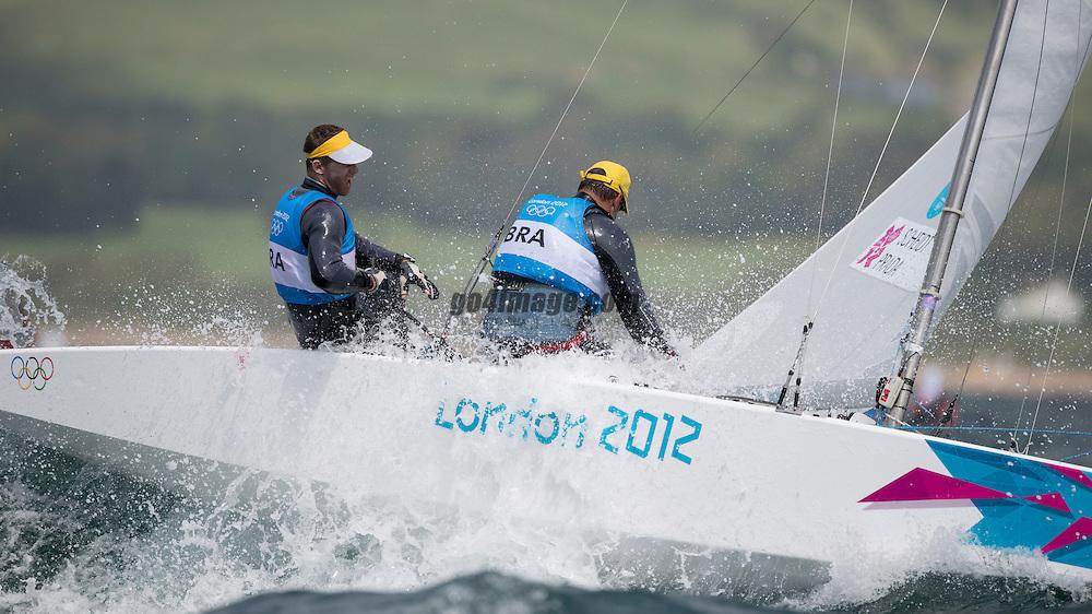 2012 Olympic Games London / Weymouth<br /> Scheidt Robert, Prada Bruno, (BRA, Star)