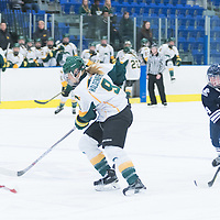 3rd year forward Emma Waldenberger (9) of the Regina Cougars in action during the Women's Hockey home game on October 8 at Co-operators arena. Credit: Arthur Ward/Arthur Images