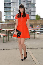 LILAH PARSONS at a supper and screening of 'No More Tiaras' a film by Mary Nighy held at Shrimpy's, King's Cross Filling Station, Goods Way, London on 7th May 2014.