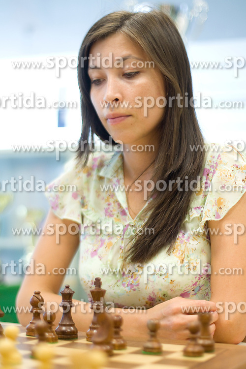 Indira Bajt in action during the Slovenian National Chess Championships in Ljubljana on August 9, 2010.  (Photo by Vid Ponikvar / Sportida)