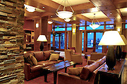 USA, Idaho, Valley County, Donnelly, Tamarack Lodge,  The Lodge at Osprey Meadows, The Lounge and Reception area