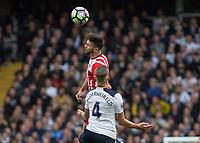 Football - 2016 / 2017 Premier League - Tottenham Hotspur vs. Southampton<br /> <br /> Shane Long of Southampton beats Toby Alderweireld of Tottenham in the air at White Hart Lane.<br /> <br /> COLORSPORT/DANIEL BEARHAM