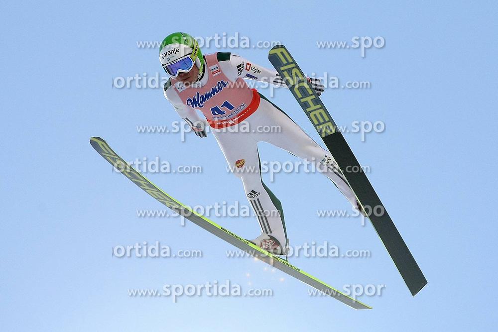 13.03.2014, Certak Skiflugschanze, Harrachov, CZE, FIS Weltcup Ski Sprung, Skiflug WM, Harrachov, im Bild JERNEJ DAMIAN // JERNEJ DAMIAN during the FIS Skiflying World Championship 2014, Harrachov at the Certak Skiflugschanze in Harrachov, Czech Republic on 2014/03/13. EXPA Pictures &copy; 2014, PhotoCredit: EXPA/ Newspix/ TOMASZ MARKOWSKI<br /> <br /> *****ATTENTION - for AUT, SLO, CRO, SRB, BIH, MAZ, TUR, SUI, SWE only*****