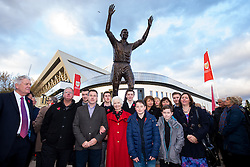 Marina Dolman and John Atyeos family gather as a statue of Bristol City legend John Atyeo is unveiled at the redeveloped Ashton Gate - Rogan Thomson/JMP - 05/11/2016 - FOOTBALL - Ashton Gate Stadium - Bristol, England - Bristol City v Brighton & Hove Albion - Sky Bet Championship.