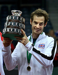 File photo dated 29-11-2015 of Great Britain's Andy Murray after winning the Davis Cup.