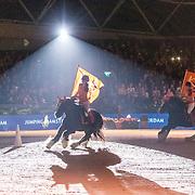 NLD/Amsterdam/20190126 - Prinses Beatrix bezoekt Jumping Amsterdam 2019, Kika Ruiters te paard