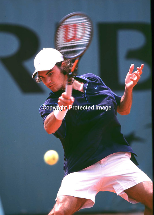 Grand Slam,Tennis,French Open 2000, Roger Federer (SUI) in Aktion,
