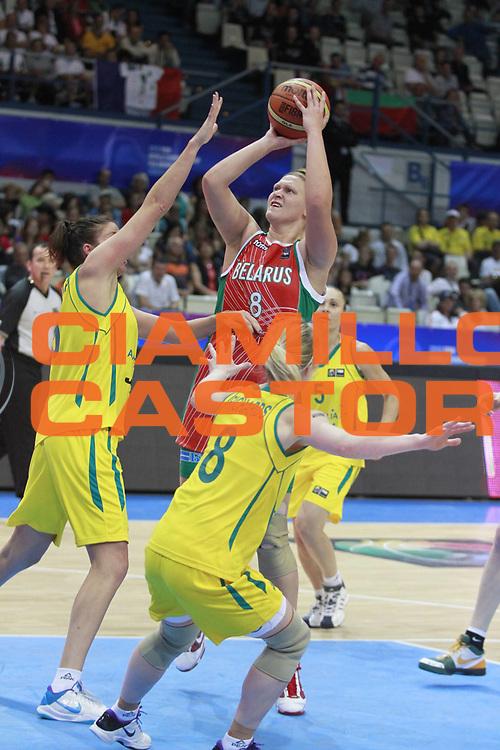 DESCRIZIONE : Ostrawa Repubblica Ceca Czech Republic Women World Championship 2010 Campionato Mondiale Preliminary Round Australia Belarus<br /> GIOCATORE : Viktoryia HASPER<br /> SQUADRA : Belarus Bielorussia<br /> EVENTO : Ostrawa Repubblica Ceca Czech Republic Women World Championship 2010 Campionato Mondiale 2010<br /> GARA : Australia Belarus Australia Bielorussia<br /> DATA : 24/09/2010<br /> CATEGORIA :<br /> SPORT : Pallacanestro <br /> AUTORE : Agenzia Ciamillo-Castoria/H.Bellenger<br /> Galleria : Czech Republic Women World Championship 2010<br /> Fotonotizia : Ostrawa Repubblica Ceca Czech Republic Women World Championship 2010 Campionato Mondiale Preliminary Round Australia Belarus<br /> Predefinita :