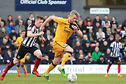 Port Vale midfielder Michael Tonge (32)  during the EFL Sky Bet League 2 match between Grimsby Town FC and Port Vale at Blundell Park, Grimsby, United Kingdom on 10 March 2018. Picture by Mick Atkins.