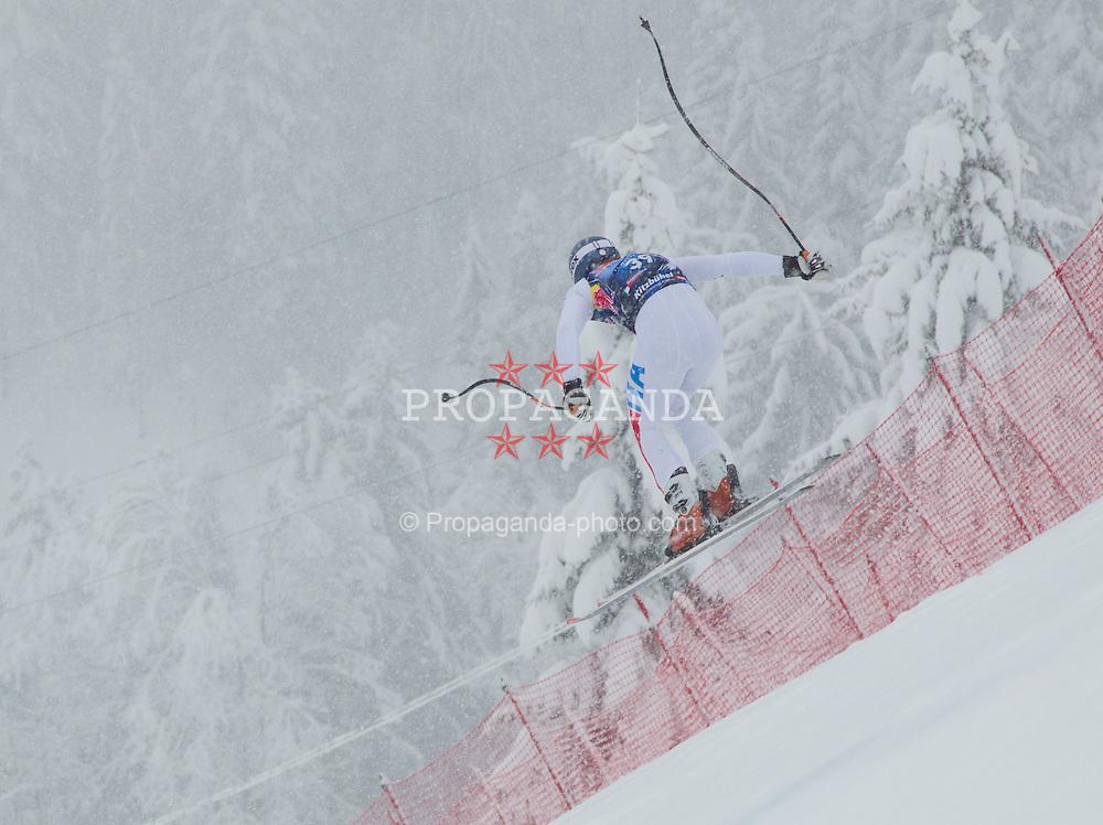 21.01.2012, Hahnenkamm, Kitzbuehel, AUT, FIS Weltcup Ski Alpin, 72. Hahnenkammrennen, Herren, Abfahrt, im Bild Matteo Marsaglia (ITA) // Matteo Marsaglia of Italy during Downhill race of 72th Hahnenkammrace of FIS Ski Alpine World Cup at 'Streif' course in Kitzbuhel, Austria on 2012/01/21. EXPA Pictures © 2012, PhotoCredit: EXPA/ Johann Groder