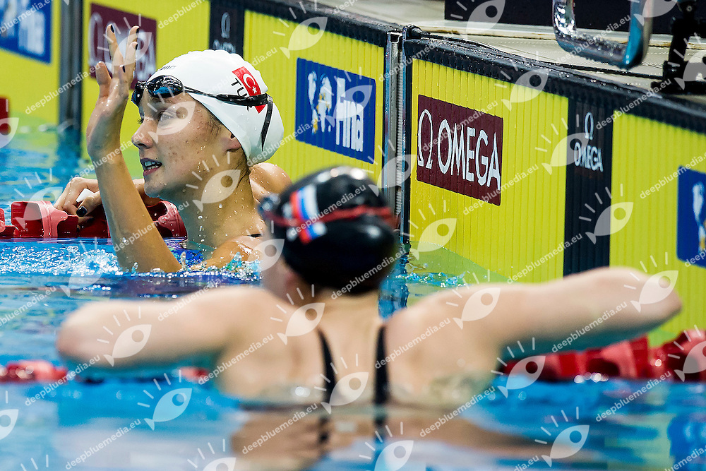 GUNES Viktoria Zeynep TUR<br /> 100 Breaststroke Women Gold Medal<br /> Day04 28/08/2015 - OCBC Aquatic Center<br /> V FINA World Junior Swimming Championships<br /> Singapore SIN  Aug. 25-30 2015 <br /> Photo A.Masini/Deepbluemedia/Insidefoto