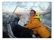The Clipper Around the World Race 2000..The Glasgow Clipper during leg1 to Portugal enters the Bay of Biscay in a southerly force 6 to introduce the crews how they will live for the next year. . .Marc Turner / PFM.www.pfmpictures.co.uk