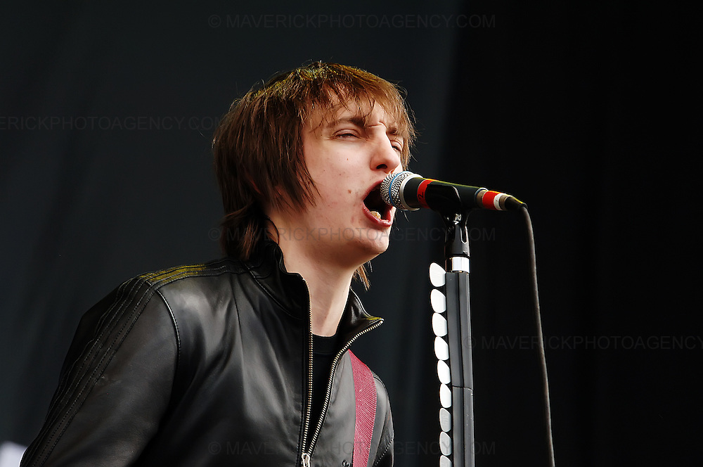 BALADO, KINROSS, SCOTLAND - JULY 13th 2008: The Enemy perform live at T in the Park 2008.  Pictured singer Tom Clarke.
